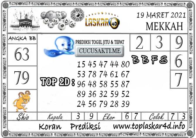 Prediksi Togel MEKKAH LASKAR4D 19 MARET 2021