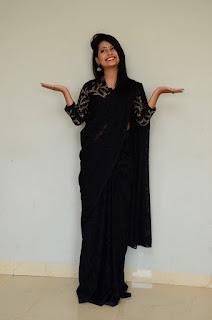 Shubhangi Panth Beautiful Pics In Black Saree