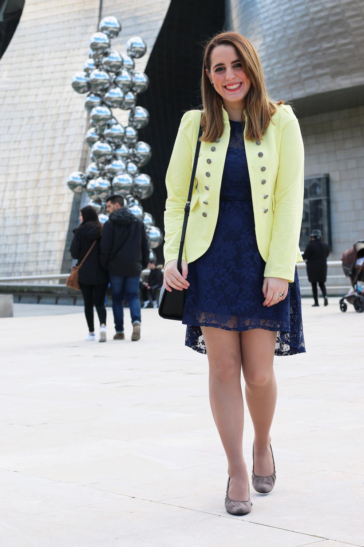 Outfit de vestido azul