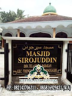Papan Nama Masjid Granit