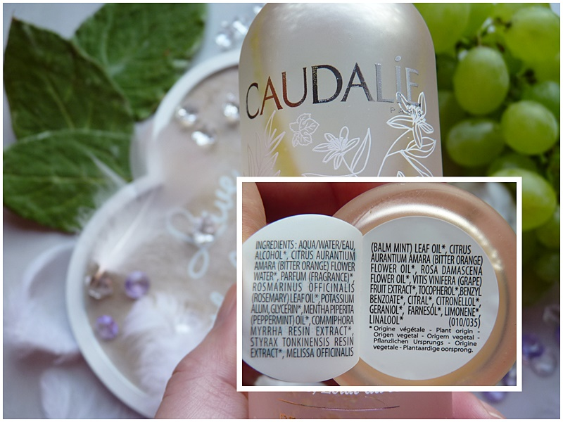 Caudalie eau de beaute inci ingredients