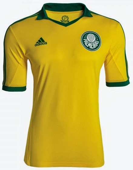 701b042a1a3bf Camisa do centenário do Palmeiras é verde e amarela como da seleção ...