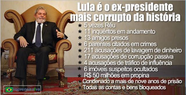 Lula é o presidente mais corrupto da história do Brasil. Tanto é ...