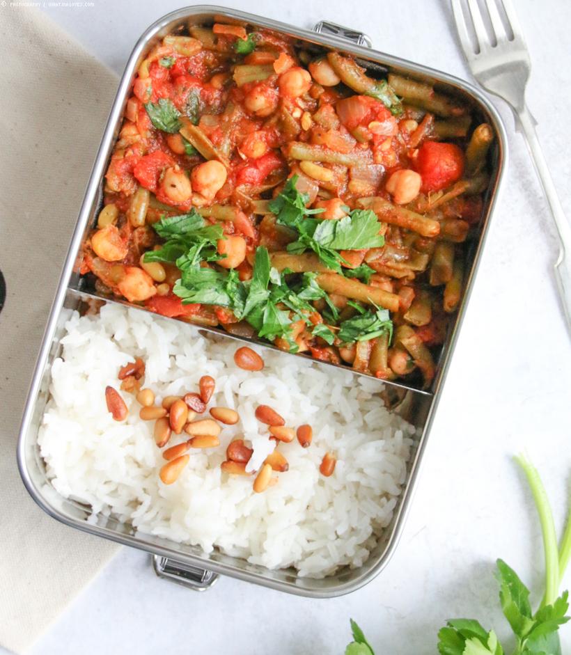 Bohnen-Tomaten-Eintopf mit Kichererbsenhnen-Tomaten-Eintopf mit Kichererbsen