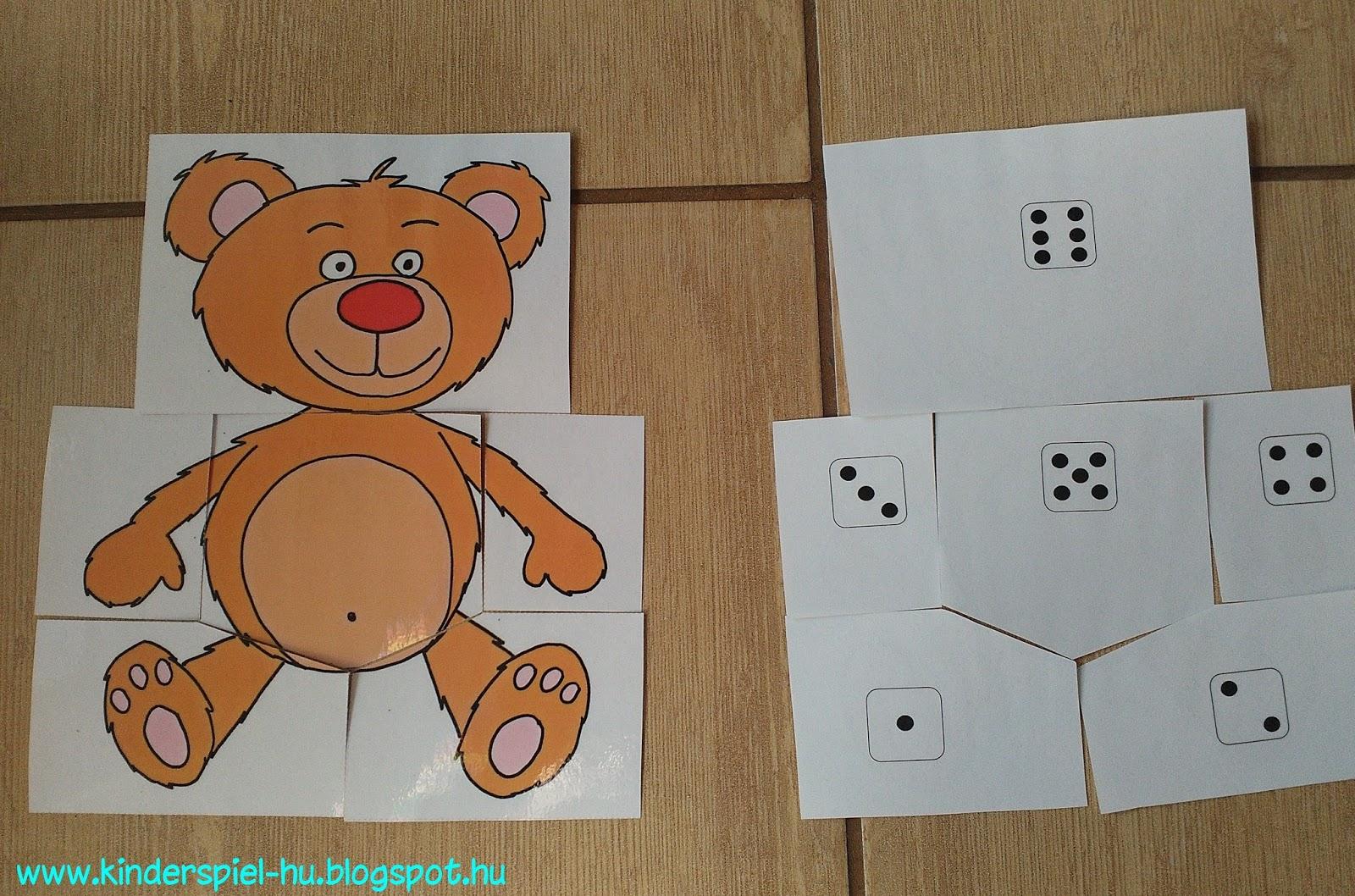 Kinderspiel Teddybar Korperteile