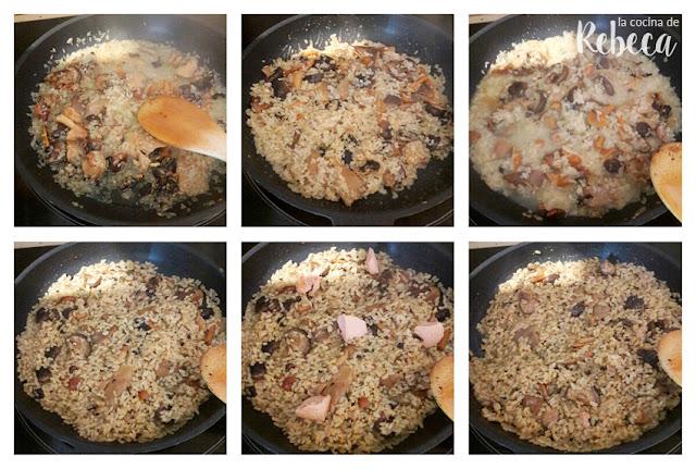 Receta de arroz meloso con setas 02