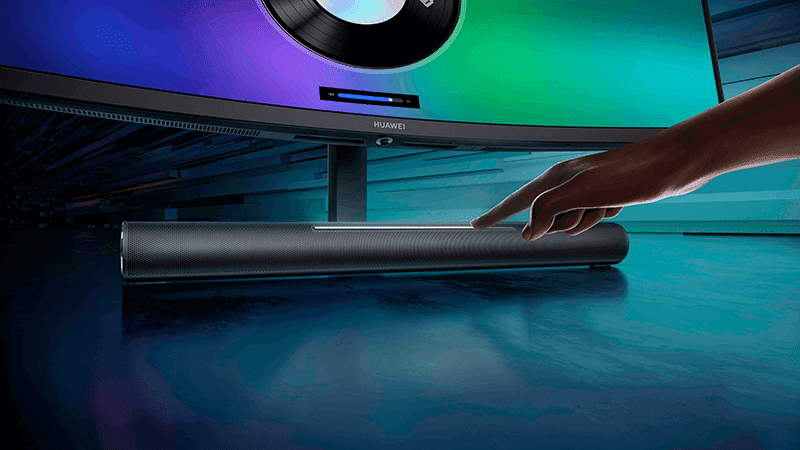 The Huawei MateView GT's soundbar base