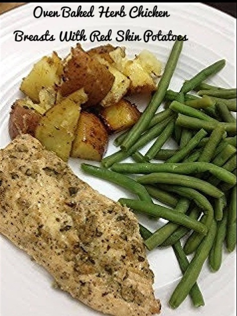 Love Cook Eat Oven Baked Herb Chicken Breasts With Red