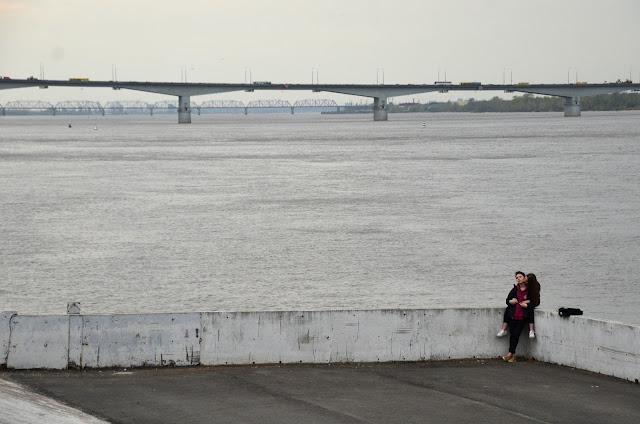 Пермяки и мост в Перми