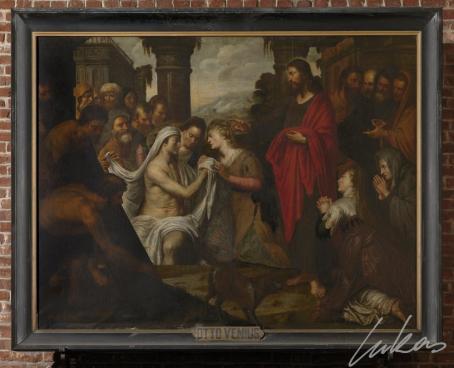 2154528731c [Een tweede voorstelling van de opwekking van Lazarus bevindt zich in de  Sint-Michielskerk (3). Het werk bereikte de kerk pas in 1804 dankzij een  schenking ...