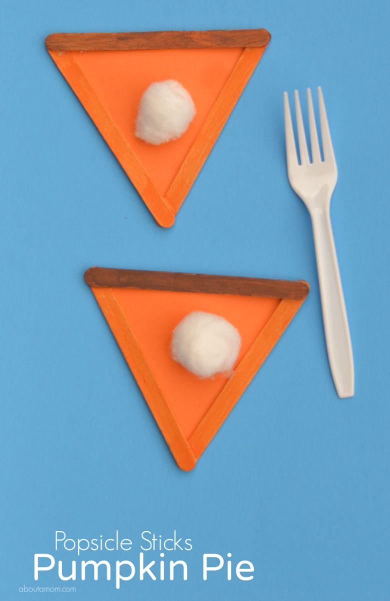 pumpkin pie craft for kids