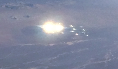 UFO photographed near Area 51 by plane passenger.