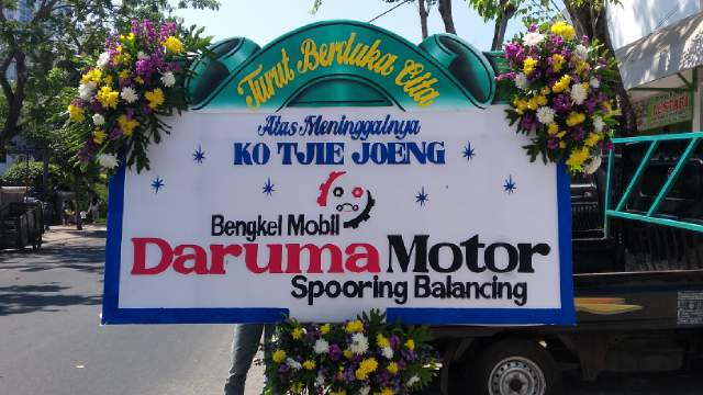 beli bunga papan di surabaya, bunga papan duka cita surabaya, bunga papan kayoon surabaya