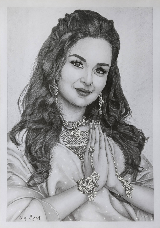 Ms. Avneet Kaur Realistic Portrait