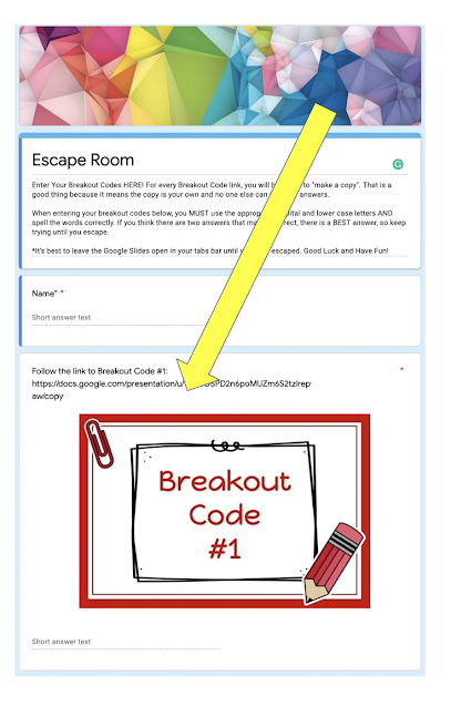 Google Forms Escape Rooms