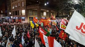 Esquina democrática em Porto Alegre. Foto CPERS/sindicato.