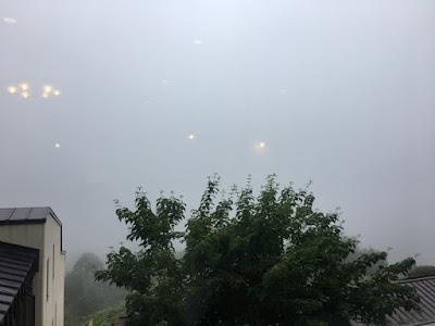 万座プリンスホテル メインダイニングから見る霧