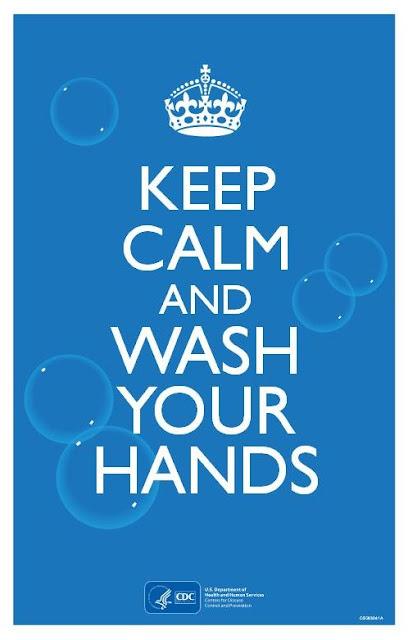 Mantén la calma y lava tus manos