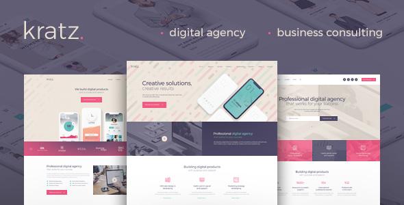 Kratz - Digital Agency Marketing and SEO WordPress Theme