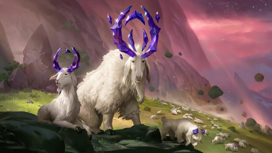 Mountain Goat, Targon, Legends of Runeterra, 4K, #5.2733