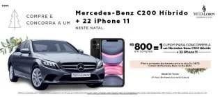 Promoção Shopping Vila Lobos Natal 2019 Mercedez-Benz e 22 iPhones 11