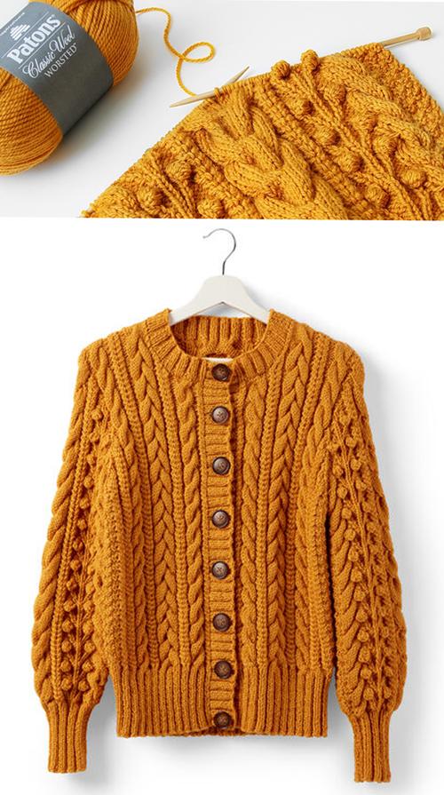 Dovercourt Knit Cardigan - Free Pattern