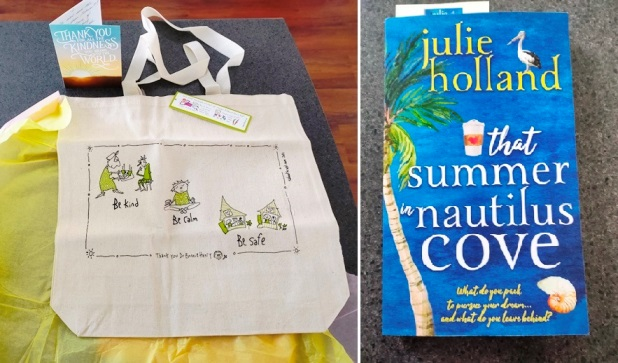 A bag and a book - lovely gifts from blogging friends