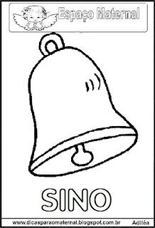 Desenho de sino para colorir