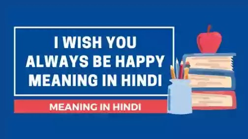 i wish you always be happy meaning in hindi
