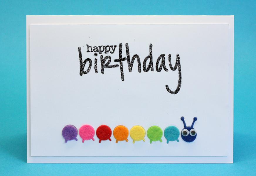 Cards By Maaike Happy Birthday Card With Felt