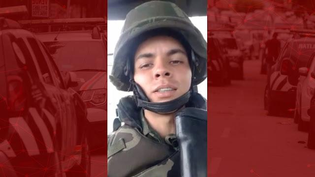 Militar chama PMs amotinados cearenses de vagabundos e é afastado da GLO