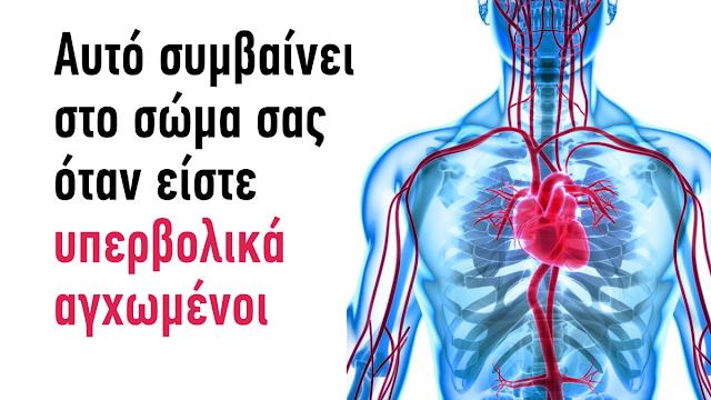 Δείτε τι συμβαίνει στο σώμα σας, όταν είστε υπερβολικά αγχωμένοι