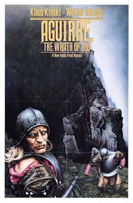 Aguirre la cólera de Dios, póster promocional de la película de Herzog y Kinski, versión inglesa. Tecnoculturas.com