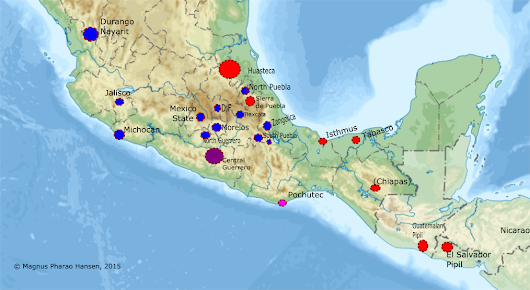 Eastern and Western Nahuatl Dialects