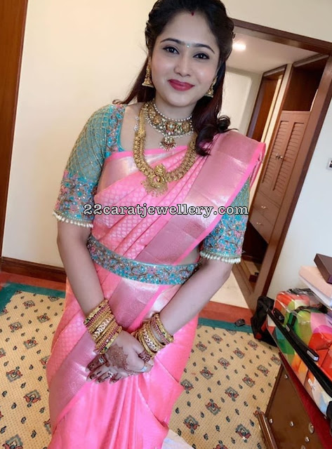 Priya Atlee in Traditional Kasu Mala