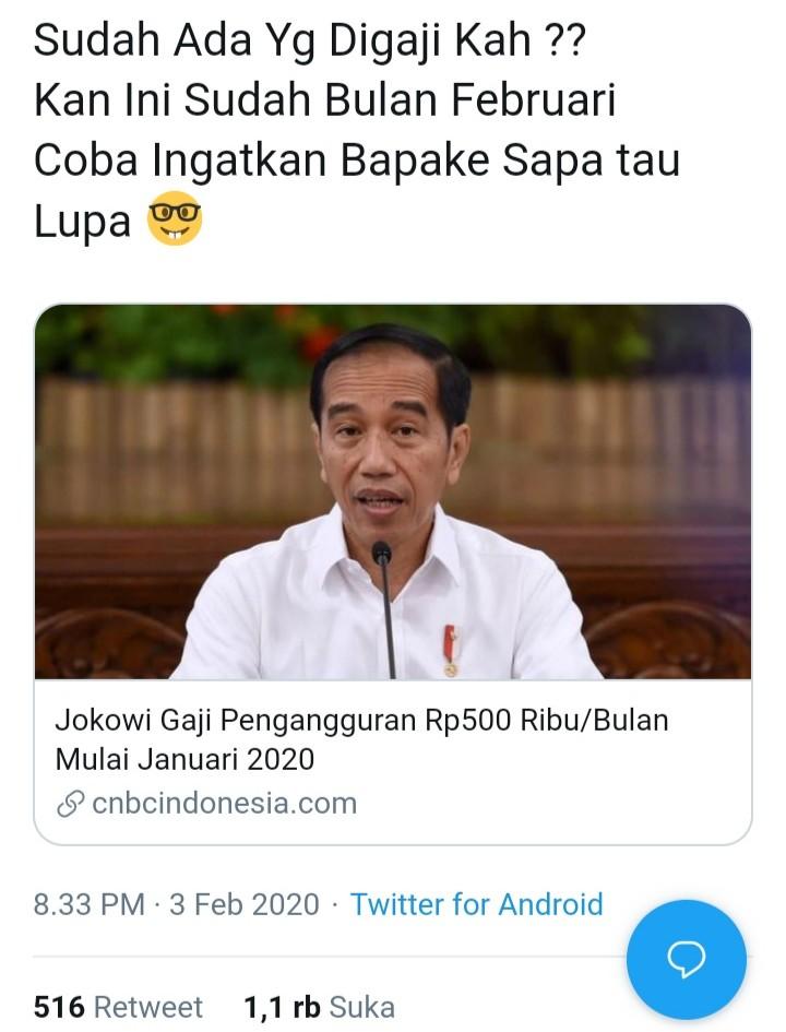 Tagih Janji Kartu Pra Kerja Jokowi, Netizen: Sudah Ada yang Nerima?