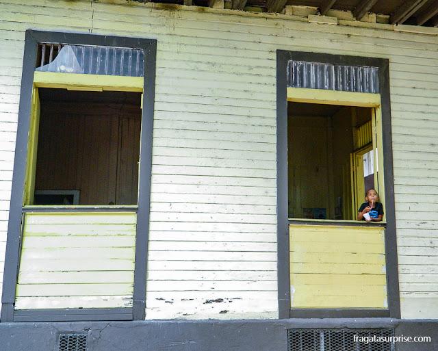 Casa de madeira no Casco Viejo (Centro Histórico) da Cidade do Panamá