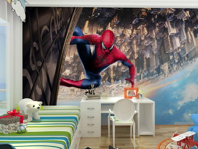 Spiderman Wall Mural 3D