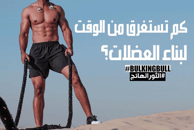 كم تستغرق من الوقت لبناء العضلات؟
