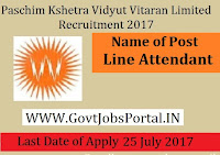 MP Paschim Kshetra Vidyut Vitaran Limited Recruitment 2017– 245 Line Attendant