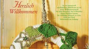 Rosca de Navidad para la puerta: Idea al crochet
