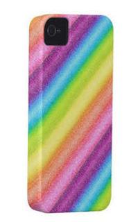 """Rainbow Ices"" iPhone Case digital art rainbow stripes"