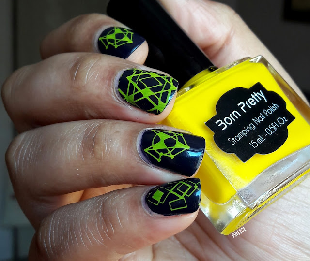 vernis stamping Born Pretty 6 et stamping BPL054