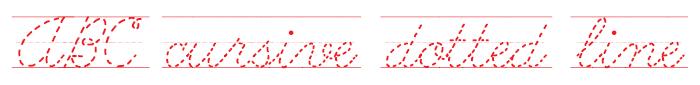ABC Cursive Dotted Line