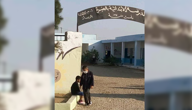 شربان/ البصرة : تلاميذ محرومون من مقاعد الدراسة بسبب تردّي وضع المدرسة