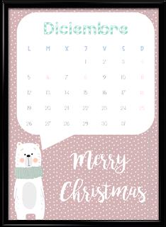 Calendario diciembre vertical