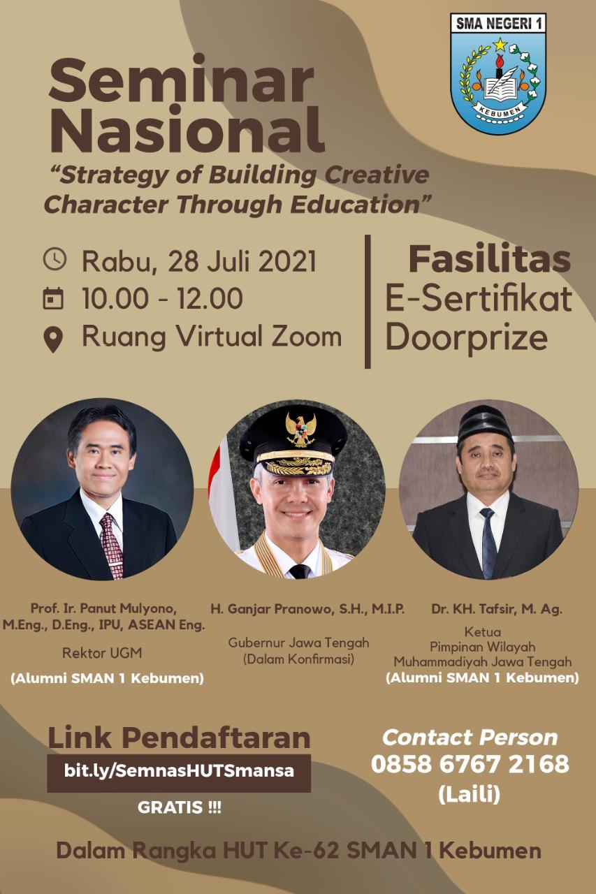 Seminar Nasional : Strategy of Building Creative Character through Education