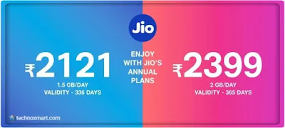 jio rs2399 annual recharge plan