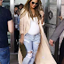 FASHION: Chrissy Teigen Rocks Body fitted Top To Display Her Baby Bump !