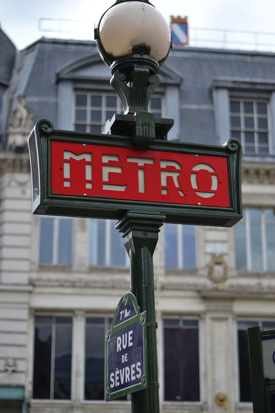 Paris Iconic Metro sign